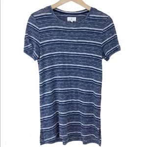 Lou & Grey Blue Knit Striped T Shirt (flaw)